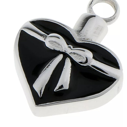 Bowed Heart Keepsake Ash Pendant