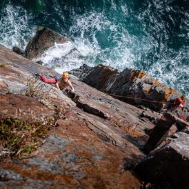 Ellie climbing 'North West Passage'