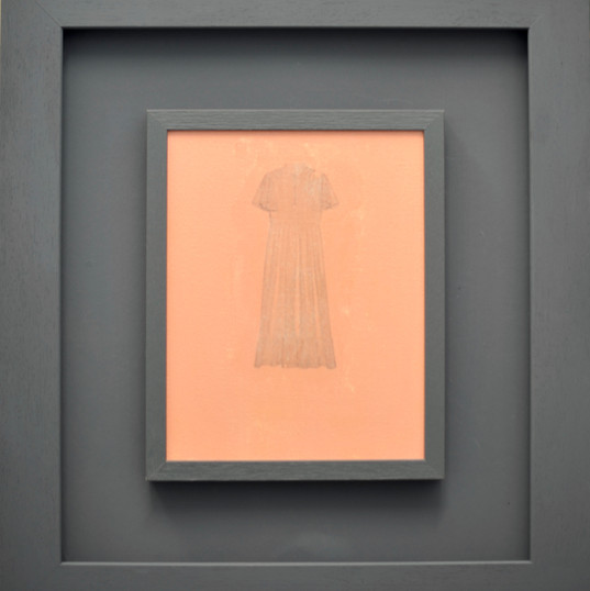 Dress II (Image transfer on painted canvas)