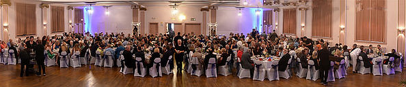 Panoramic view of the 100th Anniversary Gala at Slovenian National Home