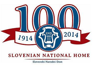 Slovenian National Home 100th Anniversary Logo