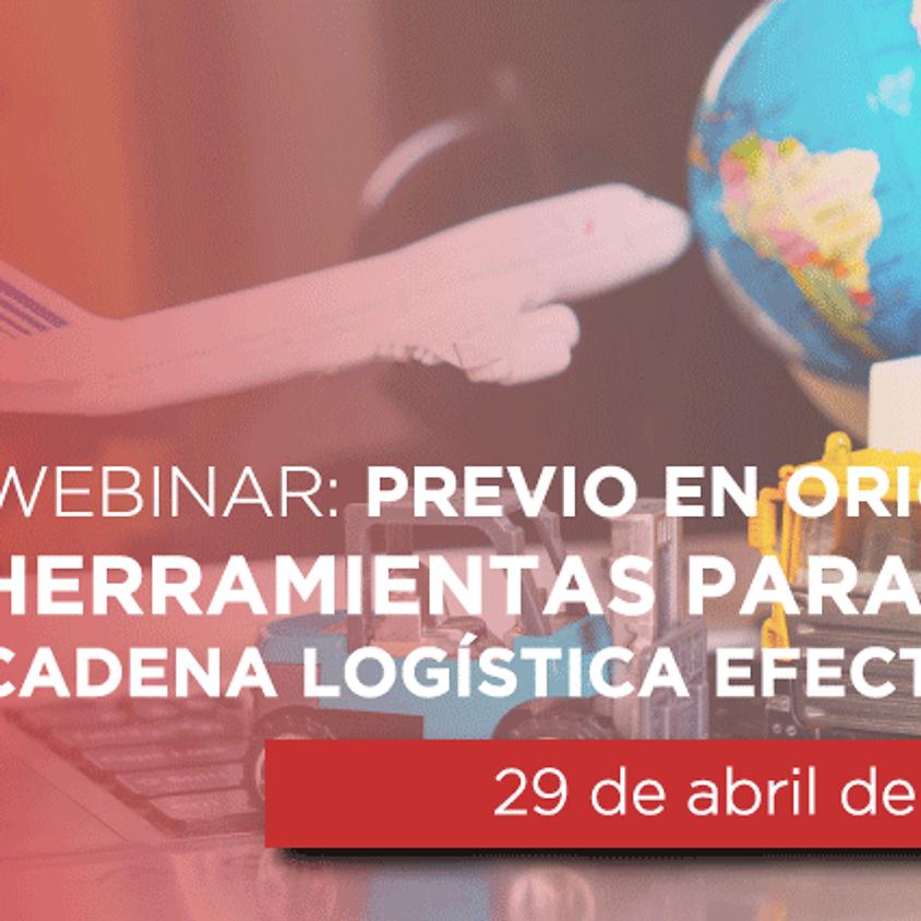 """Webinar: """"Previo en origen, Herramienta para logisticas para la cadena logistica efectiva"""""""