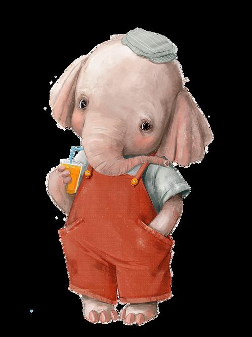 plakát slon v montérkách
