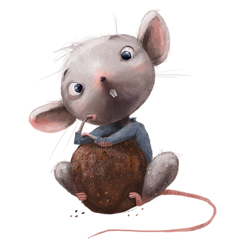 plakát myšák s drobkem