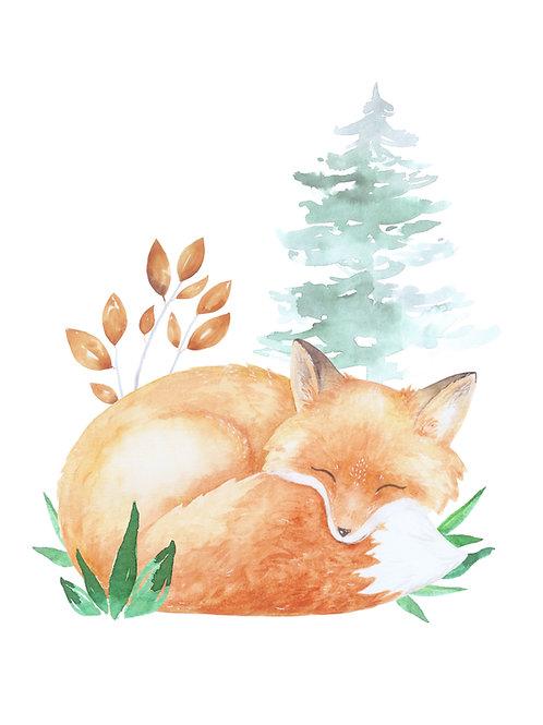 plakát spící liška
