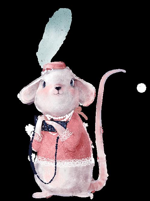 plakát myška s kloboukem