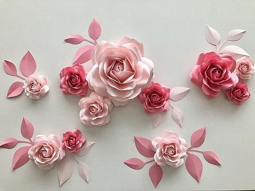 Sada papírových růží