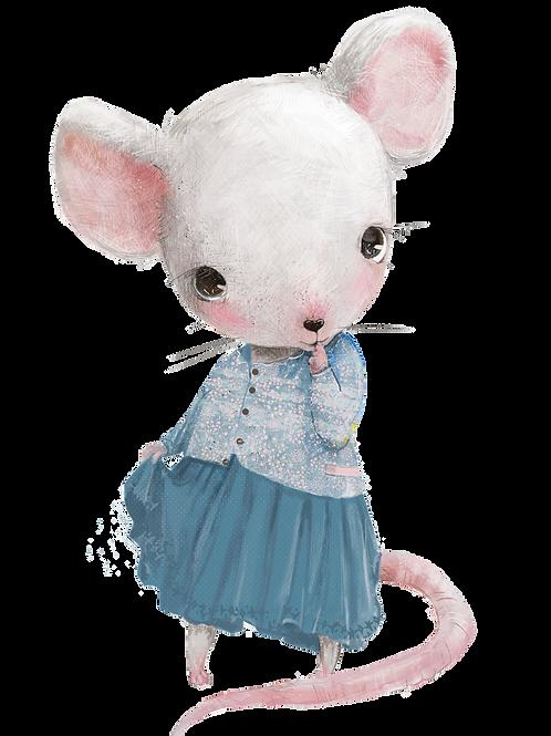 plakát myška s modrou sukní