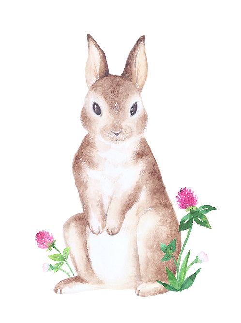 plakát panáčkující zajíček