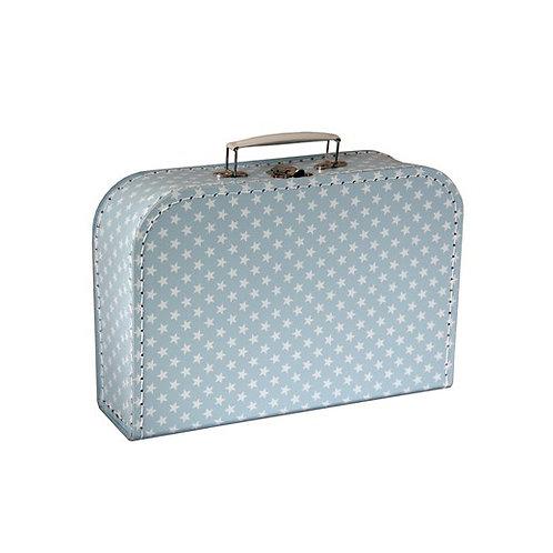 papírový kufřík velký modrý s hvězdami