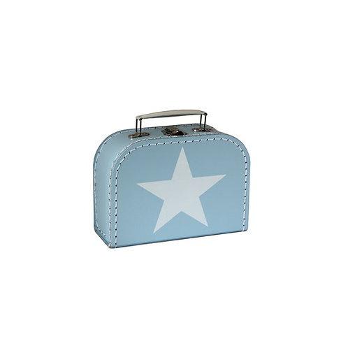 papírový kufřík malý modrý