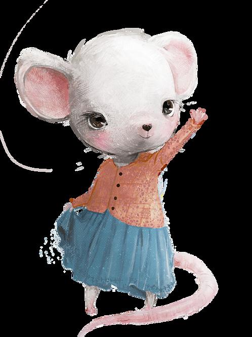 plakát mávající myška