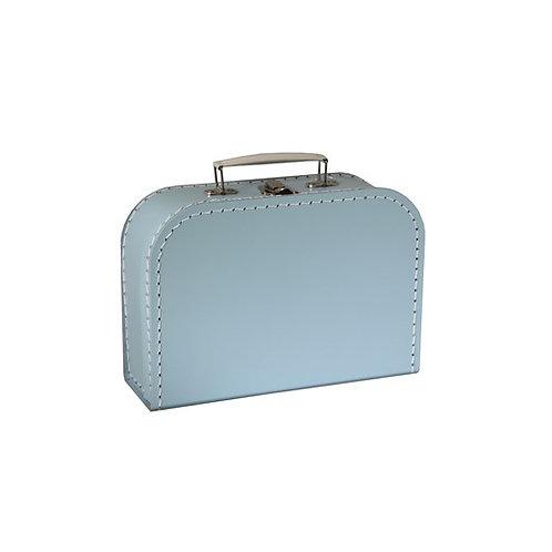 papírový kufřík střední modrý