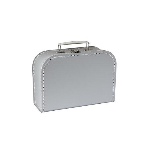 papírový kufřík střední šedý