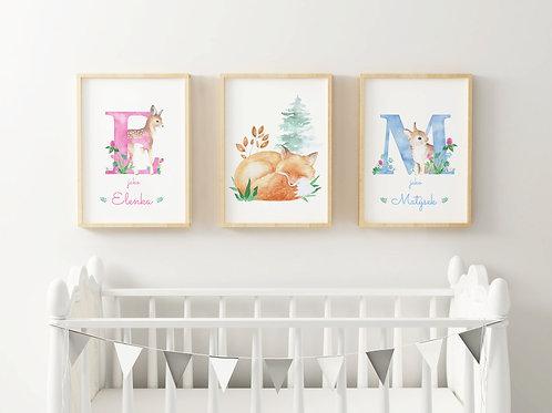 sourozenecká sada 3 plakátů A3