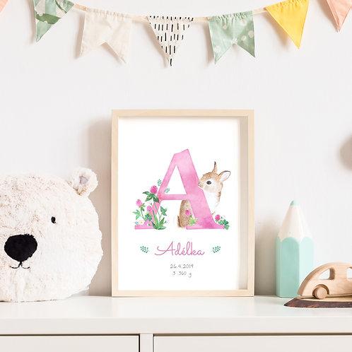 Plakátek s písmenkem