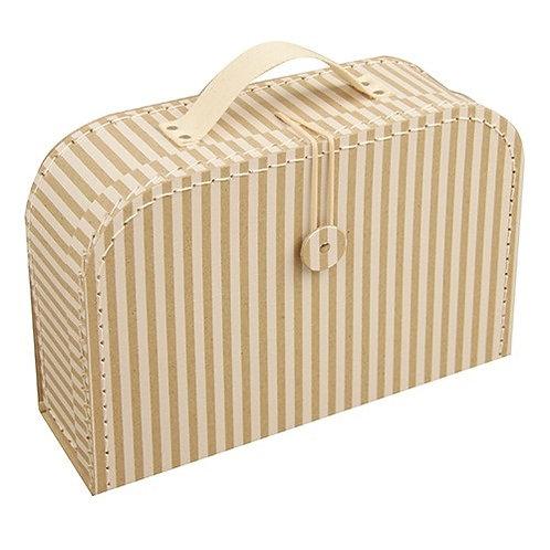 papírový kufřík střední proužkovaný