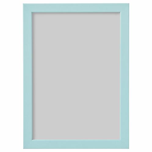 rámeček 21x30 A4 světle modrá (spíše až mint)