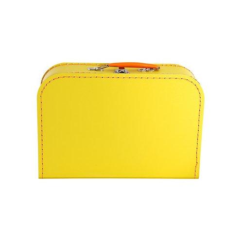 papírový kufřík malý žlutý