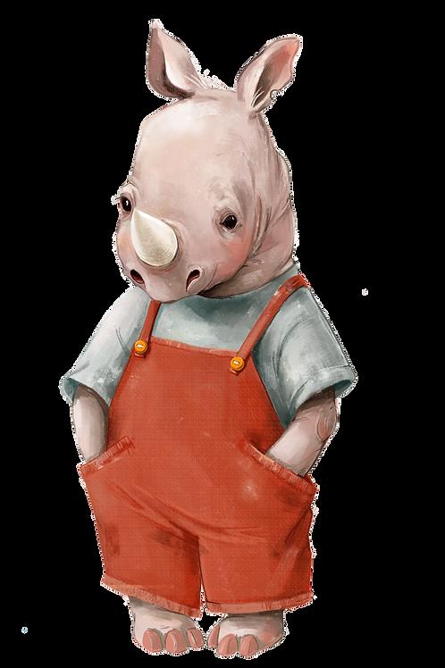 plakát nosorožec