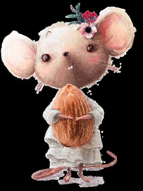 plakát myška s mandlí
