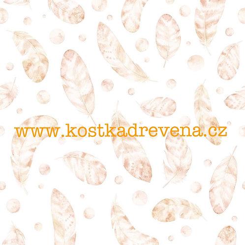 tapeta peříčka hnědé/neutrální odstíny