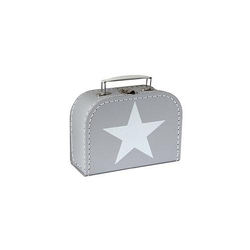 papírový kufřík malý šedý