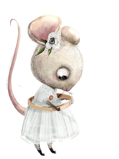 plakát myška s obručí