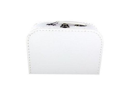 papírový kufřík střední bílý