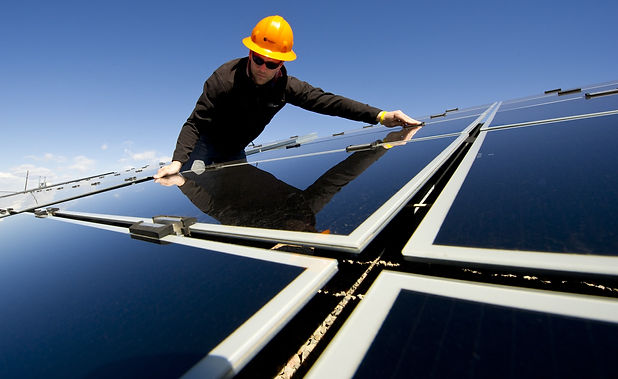 background-beside-solar-panel-maintenanc