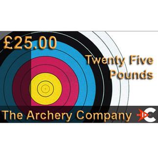 £25 The Archery Company Voucher