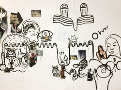 Collaborative wall collage