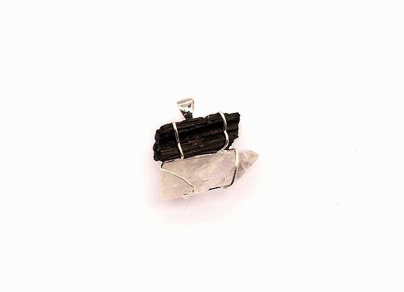 Black Tourmaline / Clear Quartz Dual Energy Pendant