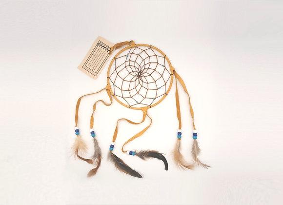 Light Brown Navajo Dream Catcher - Large 6 Inch