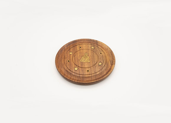 Small Incense Burner Plate - Buddha Inlay