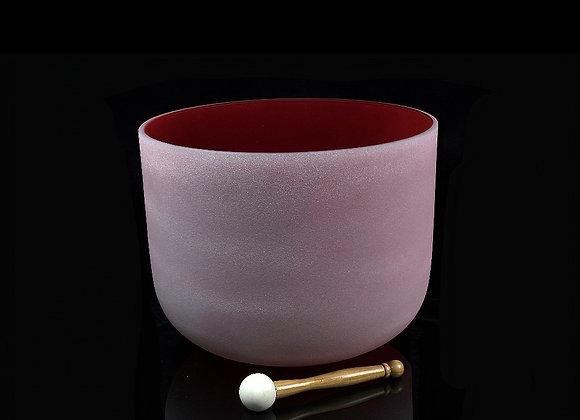 "14"" Red Crystal Singing Bowl - Note C"