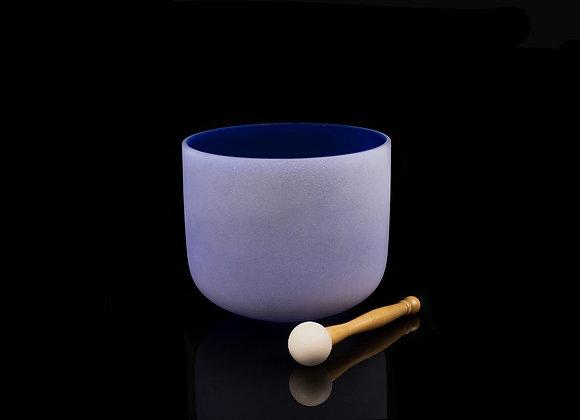"8"" Violet Crystal Singing Bowl - Note B"
