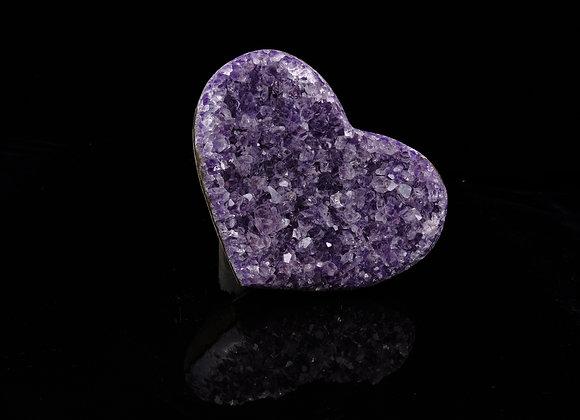 Amethyst Geode Heart Cluster