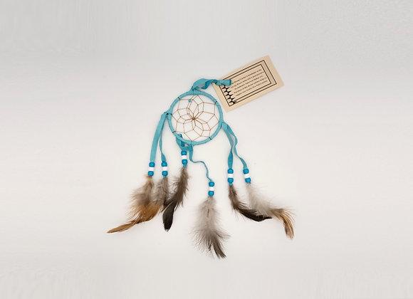 Navajo Turquoise Dream Catcher- Small 3 Inch