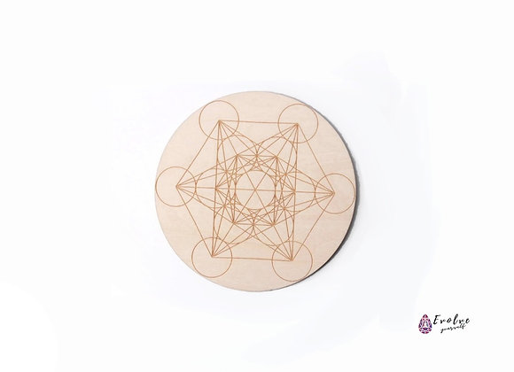 Metatron's Cube - Crystal Meditation Grid Board - Sacred Geometry