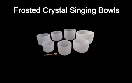 Buy Frosted Crystal Singing Bowls