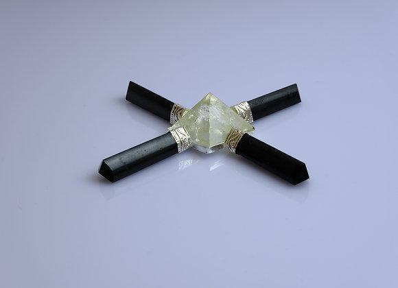 Black Tourmaline / Clear Quartz Energy Generator