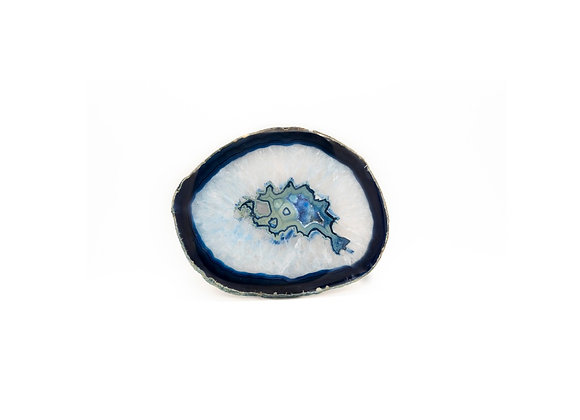 Large Blue Agate Slice (135mm x 170mm)