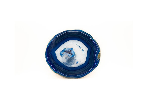 Large Blue Agate Slice (150mm x 170mm)