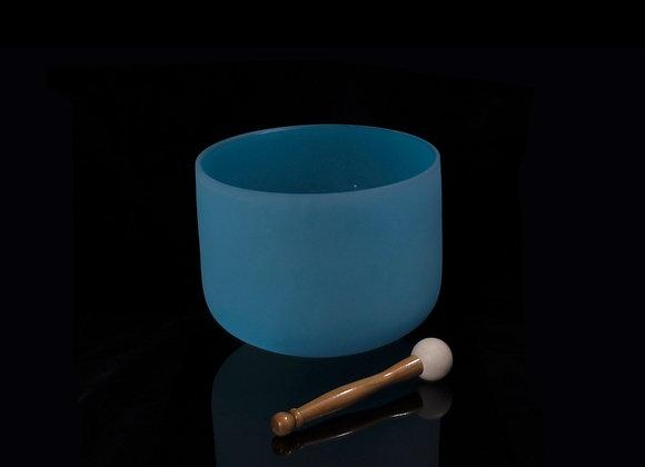 "10"" Blue Crystal Singing Bowl - Note G"