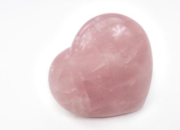 Rose Quartz Love Heart Palmstone Healing