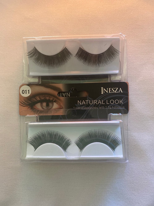 INESZA NATURAL LOOK EYELASHES- Glue included