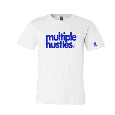 Multiple Hustles Tee  (Blue &White)