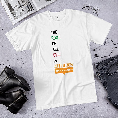 ATTENTION  SUMMER TEE  (WHITE)