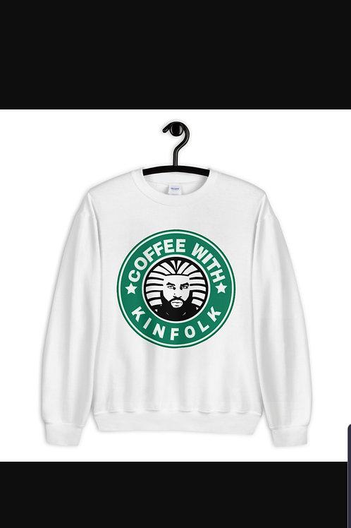 Coffeewithkinfolk-WhiteUnisexSweater